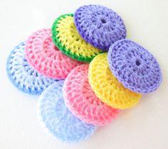 Crochet Nylon Dish Scrubbies  Set of 8  Pastel by ArtistBeeBee, $16.00