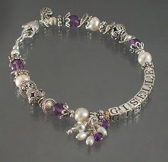 Exquisite Gemstone & Pearl Mother's Bracelet  http://www.beadgifts.com/218.html