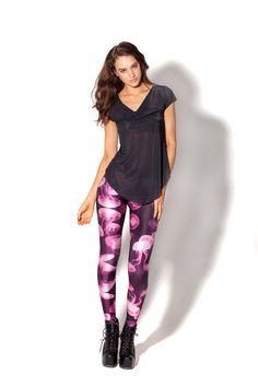 Jellyfish Pink Leggings by Black Milk Clothing