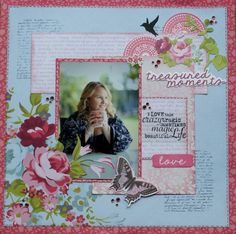 A layout by Kelly-ann Oosterbeek, made using the Secret Garden Collection from Kaisercraft. www.amothersart.com Kids Scrapbook, Scrapbooking Layouts, Scrapbook Paper, Garden Layouts, Something To Remember, Layout Inspiration, Page Layout, High Tea, Projects To Try
