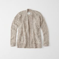 Abercrombie & Fitch Nep Yarn Cardigan ($78) ❤ liked on Polyvore featuring tops, cardigans, oatmeal, cardigan top, abercrombie fitch top, brown tops, oatmeal cardigans and brown cardigan
