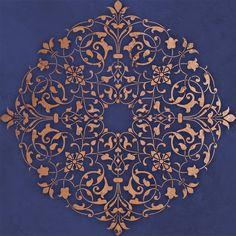 ceiling medallion stencil