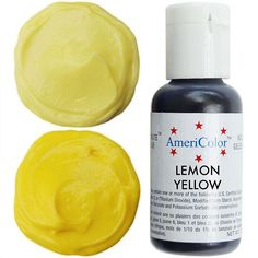 Electric (NEON) Yellow Gel Paste Food Coloring | COLOURS | Pinterest ...