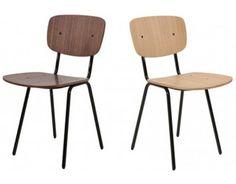 Chaise Design en Bois Ernest - Chêne / Noyer