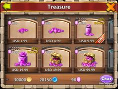Castle Clash by IGG - Shop IAP (In App Purchase) Hard Currency - UI HUD User Interface Game Art GUI iOS Apps Games