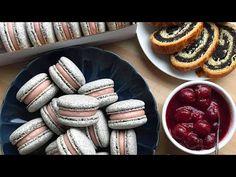 MÁKaron - igen, MÁKBÓL😱 - Meggyes töltelékkel🍒-Poppy Seed Macarons - BebePiskóta - YouTube Sausage, Lime, Meat, Youtube, Food, Limes, Sausages, Essen, Meals
