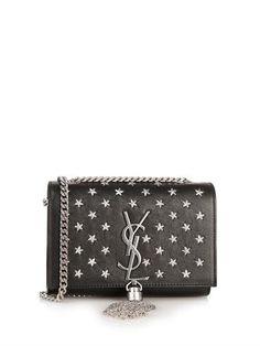 7d0beef85a4c Saint Laurent Cassandre small star-studs shoulder bag French Fashion