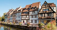 Cycling via France and Germany, see cultural highlights: Freiburg; Strasbourg, the most important city in the Alsace region; or Colmar, to name a few! Historical Monuments, Historical Sites, Alsace En Camping Car, Colmar Alsace, Strasbourg, Location Camping Car, Rando, Most Beautiful Cities, Stunning View