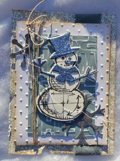 carte de noël avec les tampons tim holtz
