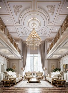 Visualisation of classic style meeting room on Behance House Ceiling Design, Ceiling Design Living Room, Interior Design Living Room, Classical Interior Design, Mansion Interior, Luxury Homes Interior, Luxury Home Decor, Plafond Design, Luxury Homes Dream Houses