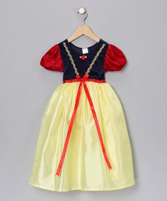 Take a look at this Red & Yellow Snow White Dress-Up Outfit - Infant, Toddler & Girls by Little Adventures on #zulily today!