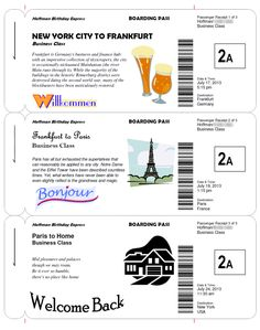How to make fake boarding passes as Wedding Invitations, party games, or as a way of giving someone a trip of a lifetime!