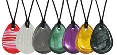 Raindrop Pendants - these nice sized pendants are perfect for a more hearty chewer.  Thicker around the edges, they are durable and smooth.  They come in a variety of colors and the cord with breakaway clasp, allows you to 'chews' a suitable size for your little chewer.  Visit us at www.chewigemusa.com to learn more about us and find your perfect chew!