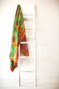 AUTUMN LOVE Kantha Quilt, Quilts, Ladder Decor, Autumn, Vintage, Home Decor, Decoration Home, Fall Season, Room Decor