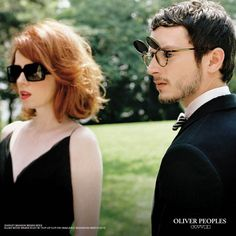 One campaign that I have been unable to shake from my mind is Oliver Peoples' pairing with Shirley Manson and Elijah Wood. Manson's fiery, wind-tossed red hair frames a pair of sun-bloc…