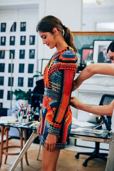 Balmain's Olivier Rousteing and His Casting Director Jess Hallett Discuss the Newest Recruits to the Balmain Army for Spring 2017 Knit Fashion, Runway Fashion, High Fashion, Womens Fashion, Fashion Tips, Fashion Ideas, Boho Fashion, Haute Couture Style, Mode Crochet
