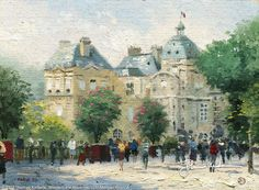 Luxembourg Gardens by Thomas Kinkade  April 1995