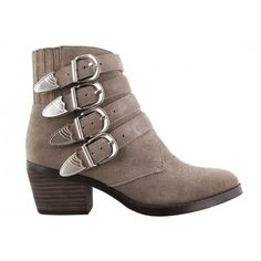 Frenchy Mushroom Suede Tony Bianco Ankle Boot