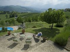 A lot of wine would be drink on this patio!!  Villa Casa Lola, Nr Monte San Martino, Italy www.thebigdomain.com