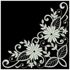 White Work Daisies 05(Lg) machine embroidery designs