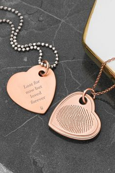 Rose Gold Locket, Rose Gold Pendant, Engraved Jewelry, Personalized Jewelry, Fingerprint Necklace, Birthstone Charms, Sterling Silver Chains, Swarovski Crystals, Connection