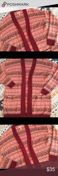 Matilda Jane Sweater Cardigan Pink Red NWOT!  Size small. Super soft and warm! Matilda Jane Sweaters Cardigans