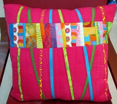 Melody Johnson quilted pillow