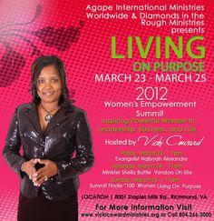 Living on Purpose Women's Conference - March 23-25, 2012 - Richmond, VA