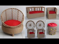 Jute Crafts, Easy Diy Crafts, Sisal, Modern Chairs, Wire Wrapped Jewelry, Hanging Chair, Reuse, Wicker, Furniture