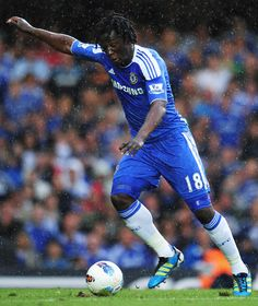 Romelu Lukaku - Chelsea FC's Striker.    Probably his first picture on Pinterest