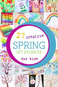 27 creative and colorful Spring art projects for kids to make!