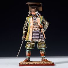Kuroda Nagamasa, samurai warrior scale model.