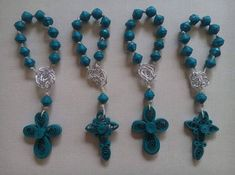 Beautiful handmade quilling rosary with 11 beads. Special an