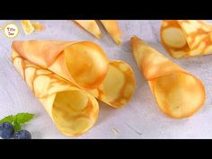 Homemade Ice Cream Cone in a frypan & without oven by Tiffin Box | Crispy Waffle/Sugar Cones Recipe - YouTube Ice Cream Desserts, Frozen Desserts, Ice Cream Recipes, Fun Desserts, Waffle Cone Recipe, Ice Cream Waffle Cone, Yummy Ice Cream, Homemade Ice Cream, Crepes