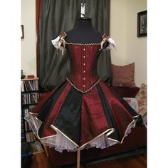 steampunk circus HQ1 ❤ liked on Polyvore featuring dresses, kohl dresses, steam punk dress, black dress and steampunk dress