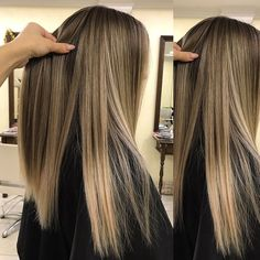 pinterest: @vanessavorasith Hair Color Balayage, Hair Highlights, Ombre Hair, Look 2018, Brown Blonde Hair, Hair Color And Cut, Dye My Hair, Pretty Hairstyles, Hair Looks