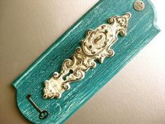 shabby chic teal | Rustic Doorknob Hook, Shabby and Chic, Teal, Vintage Inspired, Crackle ...