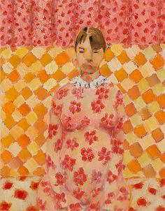 Long Waiting Times - Viggo Wallensköld , 2006 Oil on paper , 38 x 30 cm. Modern Art, Contemporary Art, Half The Sky, Scandinavian Modern, Bukowski, Original Artwork, Summer Dresses, Artist, Waiting