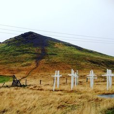 mysterious memorial outside of Reykjavik, Iceland heading south on the ring road