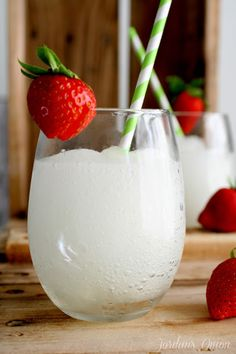 The only ingredients you'll need for this Moscato slushie are ice and moscato. How easy is that?