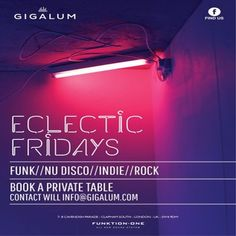 Eclectic Fridays at Gigalum, 7-8 cavendish parade, London, SW4 9DW, UK on May 22, 2015 at 8:00pm to 11:55pm, Eclectic Fridays DJs spin a variety of funk, nu disco, indie and rock music. Category: Nightlife,   Price: Free,   Artists: Hilton Caswell, Ben Yong
