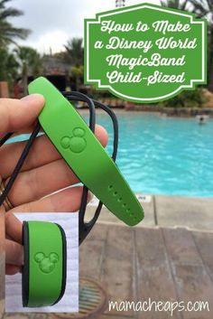 Disney World Tip: How to Make a MagicBand Child-Sized