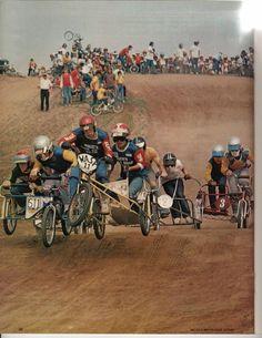 old school bmx racing, side hack Vintage Bmx Bikes, Vintage Cycles, Retro Bikes, Bmx Bicycle, Cargo Bike, Bicycle Sidecar, Motocross Action, Best Bmx, Bmx Racing