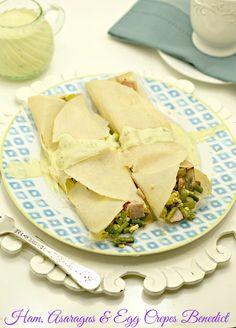 Ham, Asparagus & Egg Crepes Benedict www.fooddonelight.com