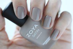 Zoya Naturel Satins Rowan Swatch -  Medium Gray Beige Taupe Cream Nail Polish for Spring 2015