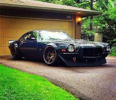 Lowered, pro touring additions, and made into a wide body. Can't get a more beautiful car