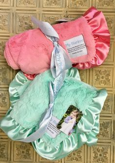 My Blankee Lush Luxe Stroller Blanket with Satin Ruffle