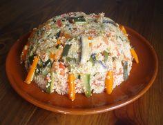 Cous cous con verduras y champiñones // Mushrooms and vegetables couscous.