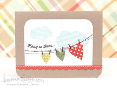 Hang In There Card  Use the bathing suit banner?
