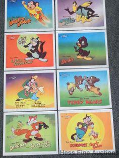 Set of 8 1940s 20th Century Fox Terry Toon Cartoon Animation Theatre Lobby Cards